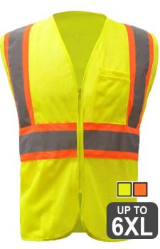 GSS Class 2 Mesh Two Tone Zipper Safety Vest