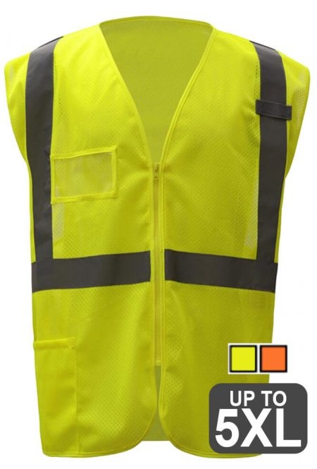 Safety Vest with ID Pocket