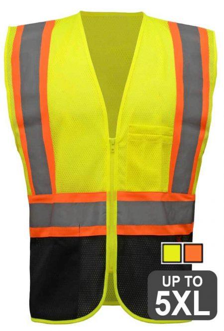 GSS 1105 Black Bottom Safety Vest