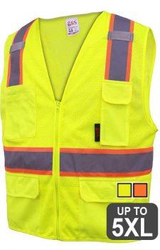 GSS Class 2 Two-Tone Zipper Vest