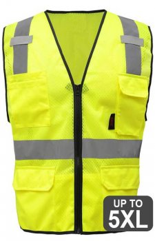 GSS Premium Class 2 Mesh Zipper 6 Pocket Vest