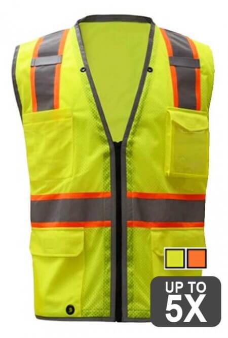Class 2 Safety Vest holds iPad or Tablet