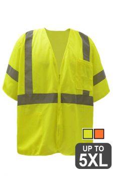 GSS Class 3 Mesh Zipper Safety Vest