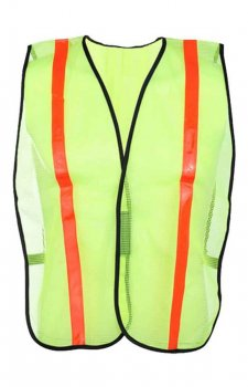 GSS Non-ANSI Economy Safety Green Vest With Prismatic Tape