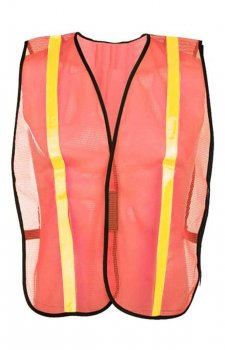 GSS Non-ANSI Economy Safety Orange Vest With Prismatic Tape