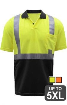 GSS Class 2 Black Bottom Safety Polo Shirt