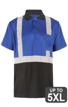 GSS Non-ANSI Blue Short Sleeve Reflective Polo