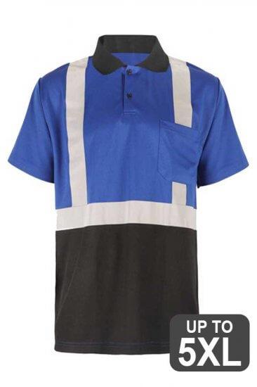 Blue Reflective Safety Polo