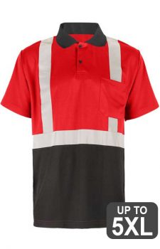 GSS Non-ANSI Red Short Sleeve Safety Polo Shirt