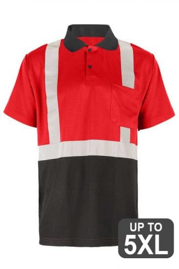 Red Reflective Polo