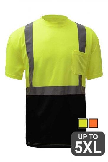 Class 2 Black Bottom Safety Shirt