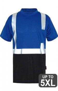 GSS Non-ANSI Blue Short Sleeve Reflective Safety Shirt