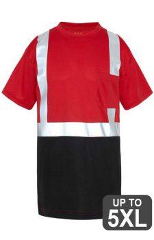 Non-ANSI Short Sleeve Reflective Red Safety Shirt