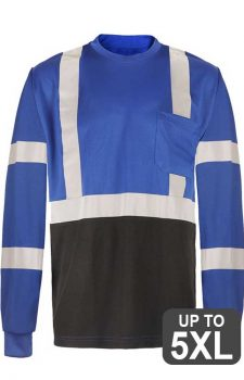 GSS Non-ANSI Blue Reflective Long Sleeve Safety Shirt