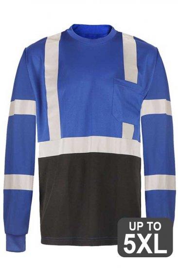 Blue Long Sleeve Reflective Safety Shirt