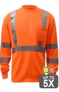 GSS Long Sleeve Class 3 Safety Shirt