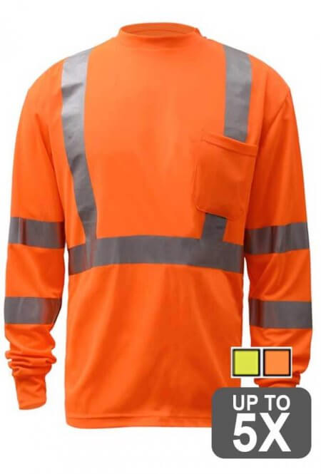 Long Sleeve Class 3 Safety Shirt