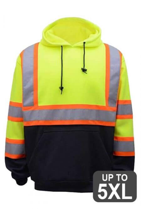 Two-Tone Safety Hooded Sweatshirt