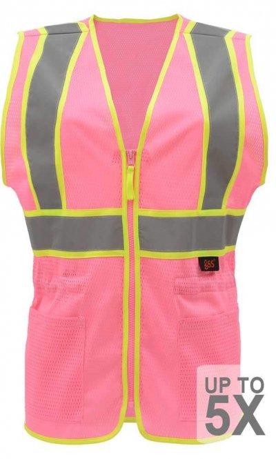Non-ANSI Safety Pink Vest