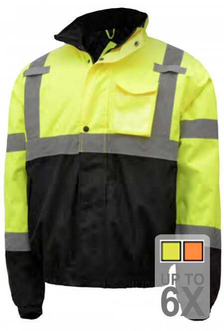 Safety Green Bomber Jacket