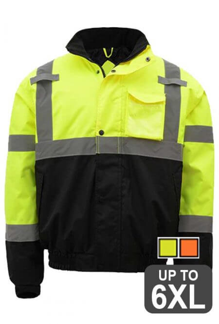 Safety Green Bomber Jacket