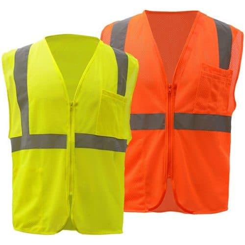 GSS Class 2 Zipper Safety Vest