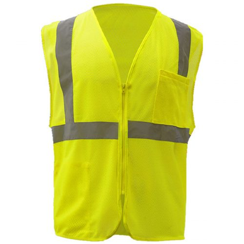 Safety Green Safety Vest with Zipper