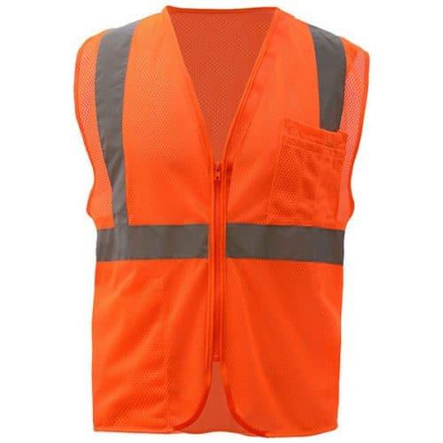 Safety ORange Vest with Zipper