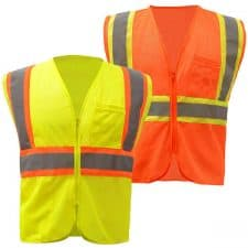 GSS Class 2 Mesh Two Tone Zipper Safety Vest