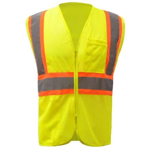 Safety Green Vest with Contrast Trim
