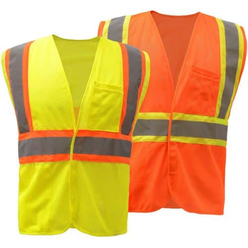 Contrast Safety Vest with Velcro Closure