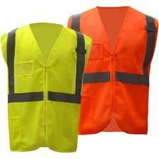 GSS Class 2 Mesh Zipper Safety Vest With ID Pocket