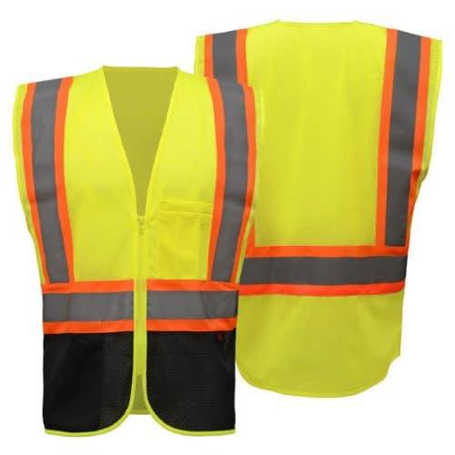 GSS Black Bottom Safety Vest