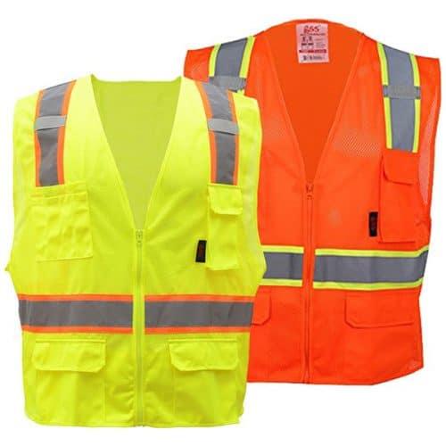 GSS Contrast Trim Safety Vests