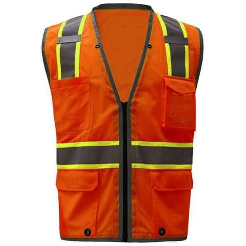 Safety Orange Vest with iPad Pocket