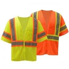 GSS Class 3 Two Tone Mesh Zipper Safety Vest