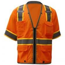 GSS Premium Class 3 Safety Orange Vest