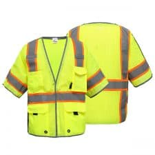 Class 3 Breakaway Safety Vest With Reflective Piping