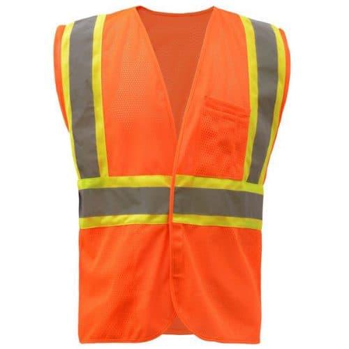 Safety Orange Vest with Fire Resistance
