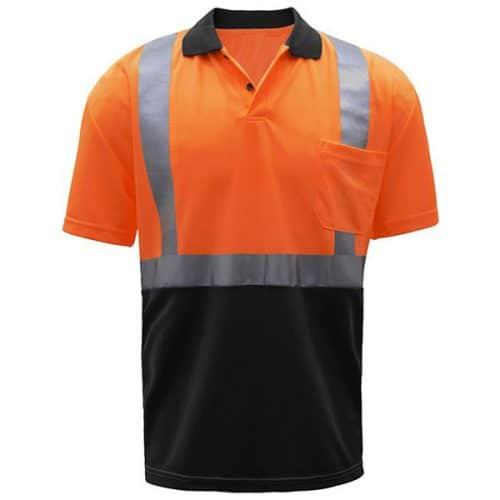 GSS Safety Orange Reflective Polo
