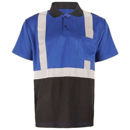 GSS Blue Polo with Reflective Stripes