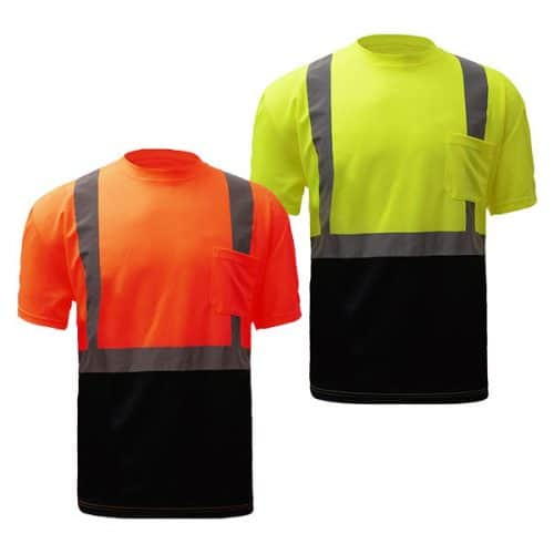 Class 2 reflective Safety Shirt with Black Bottom