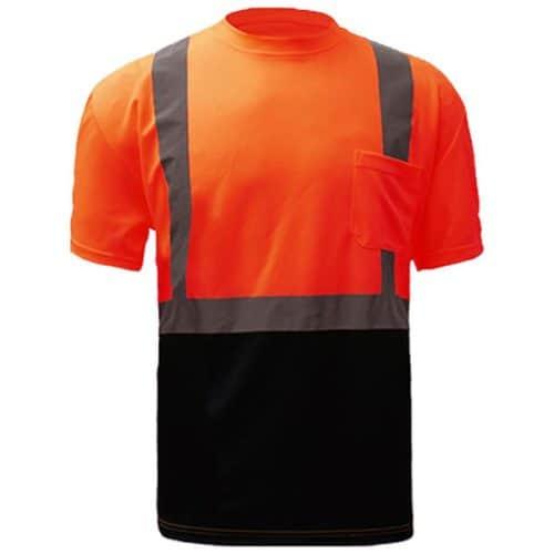 Class 2 Safety Orange Reflective Shirt
