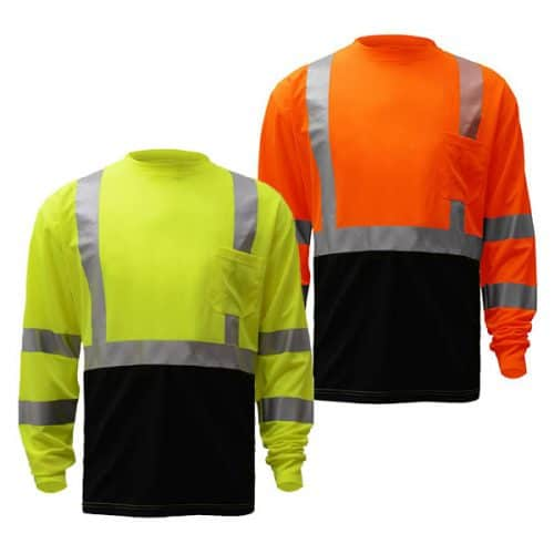 GSS Long Sleeve Class 3 Reflective Safety Shirts