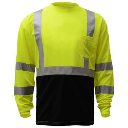 GSS Long Sleeve Safety Green Reflective Shirt