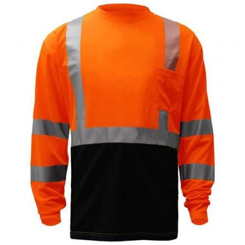 Long Sleeve Safety Orange Class 3 Long Sleeve Shirt