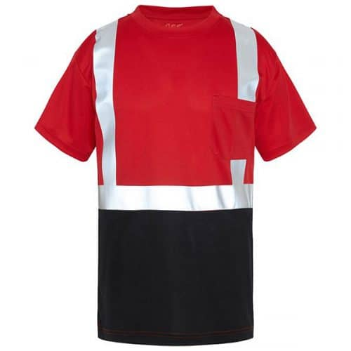 GSS Red Non-ANSI Safety Shirt with Reflective Stripes