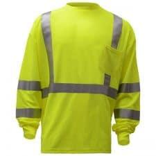 Safety Green Class 3 Reflective Safety Shirt