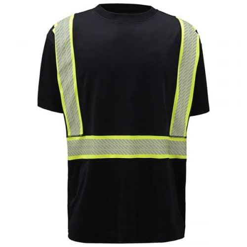 GSS Black Non-ANSI Reflective Safety Shirt