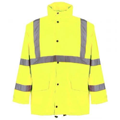 Hi Vis Safety Green Rain Jacket